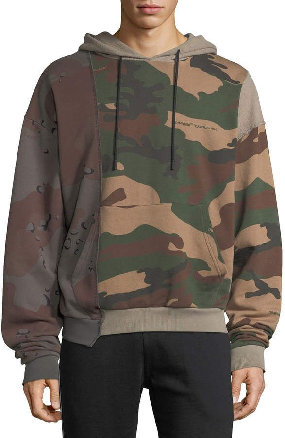 3296ce9e8eb4 Off-White Off White Men s Reconstructed Camo-Print  hoodie Sweatshirt
