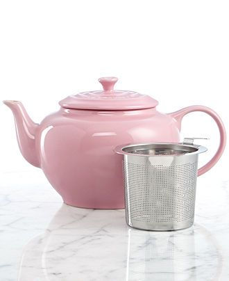 Le Creuset 1 Qt. Teapot with Stainless Steel Infuser - - Macy's