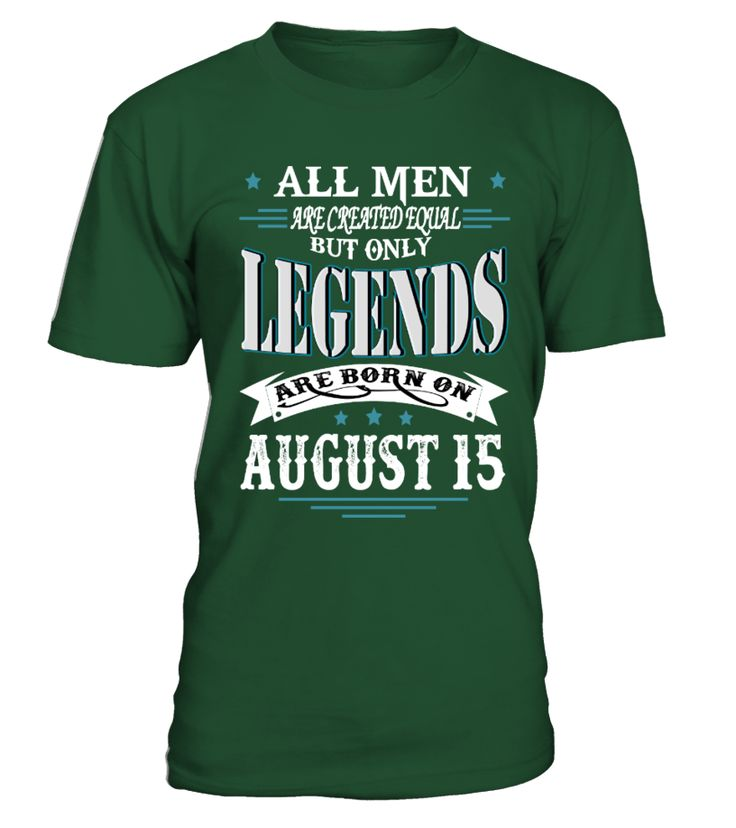 Legends are born on August 15  #gift #idea #shirt #image #music #guitar #sing #art #mugs #new #tv #cool  #husband #wife