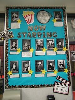 """Star board. Would be neat to put all of the children performing into the categories they are performing in on different boards that way their friends and them can go up to the board that is """"Singing"""" and see their name (or face, we don't have to use faces) and under their name would be the list of their talent. Maybe lining the hallway before the entrance to the gym."""
