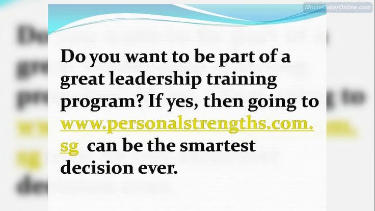 Do you want to be part of a great leadership training program? If yes, then going to https://personalstrengths.com.sg/ can be the smartest decision ever.