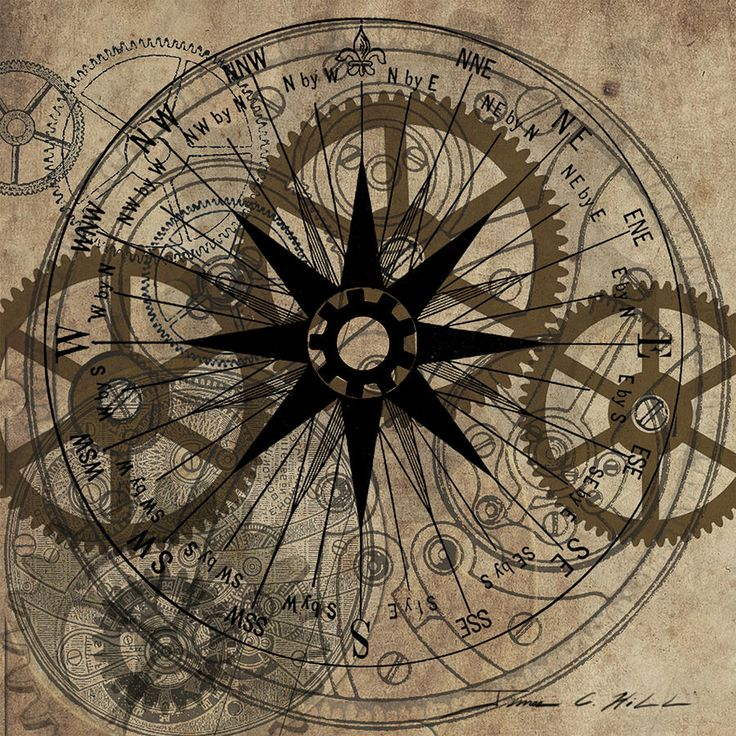 Steampunk Gold Gears Painting  - Steampunk Gold Gears Fine Art Print