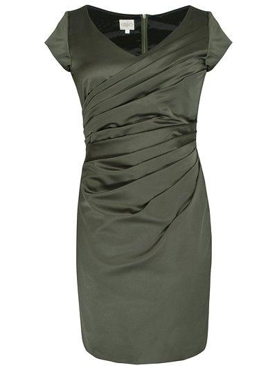 Kaliko Vintage Tuck Dress, Dark Green  potential sister's wedding outfit