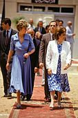 Princess Diana of Wales, on a visit to Egypt in 1992, visits a charity with Suzanne Mubarak. - Stock Photo