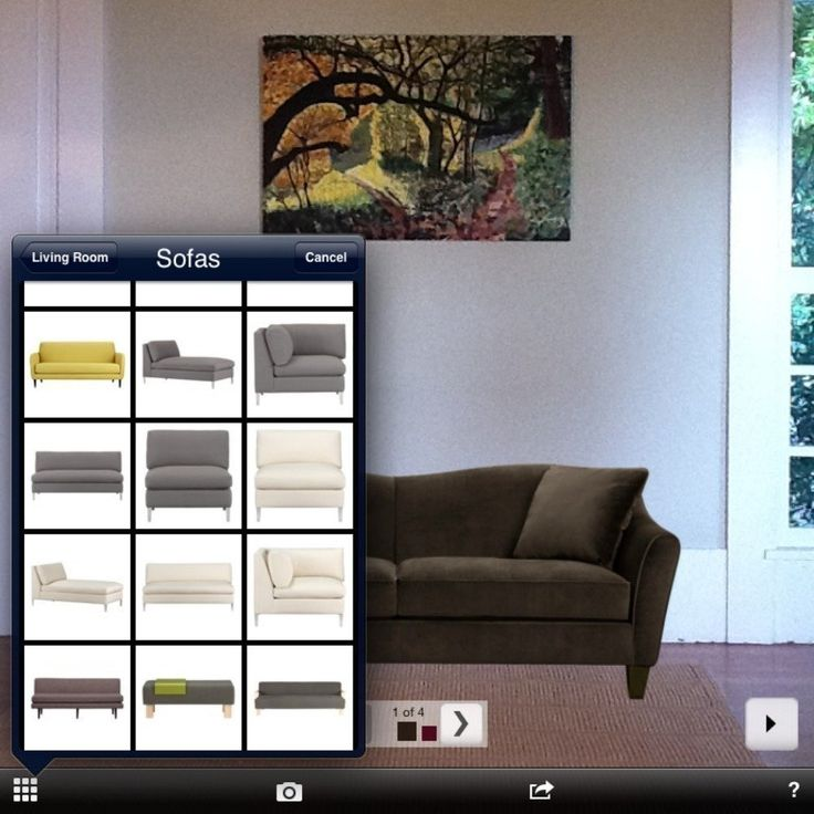 Having trouble imagining how a new piece of furniture might look in your home? Use your iPhone (this is an Apple-only app) to drag and drop furniture into your camera or photos!