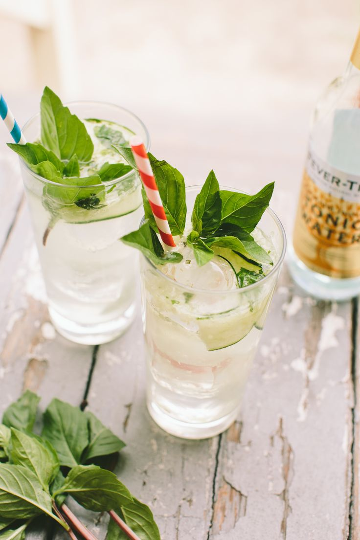 Cucumber-Thai Basil Gin and Tonic — A Thought For Food