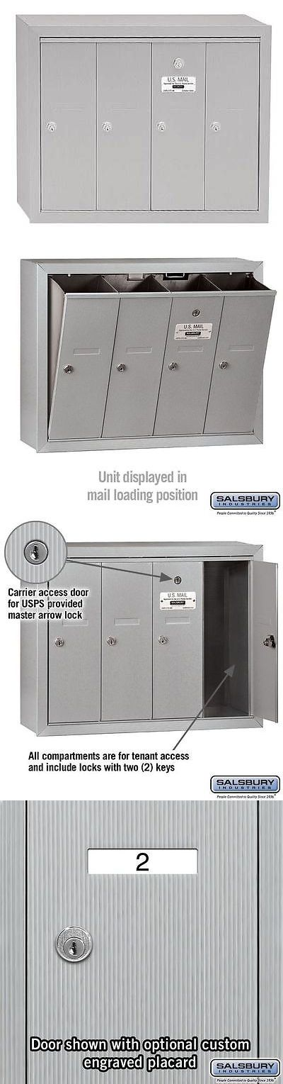 Mailboxes and Slots 20599: Salsbury Industries 3504Asu Vertical Mailbox, 4 Doors, Alum -> BUY IT NOW ONLY: $135 on eBay!