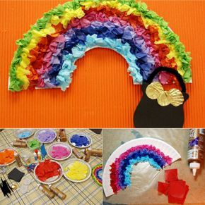 Arcoiris con platos de Papel Más Day Club, Spanish Teaching Resources, Plate Crafts, Hands On Activities, Sunday School, St Patricks Day, Crafts For Kids, Preschool, Rainbow