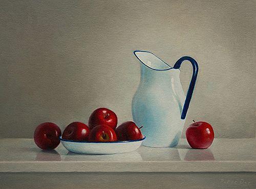 View Apples with Enamel Jug