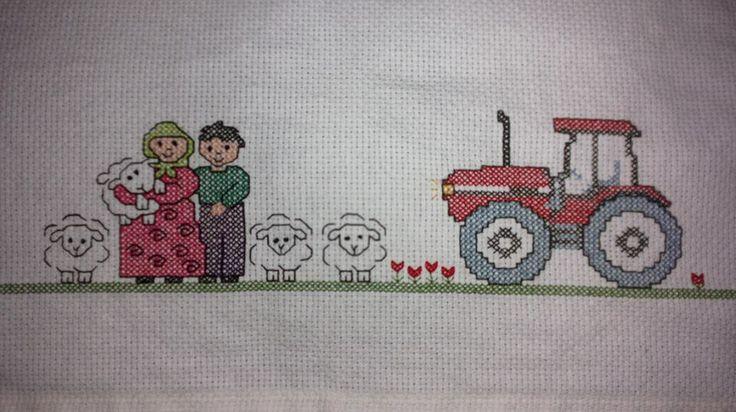 a cross stitch work for my grandma <3