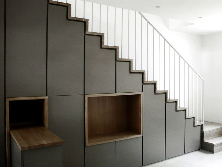 Agence d 39 architecture romain th venot r novation d 39 une maison de vi - Amenagement sous escalier tournant ...
