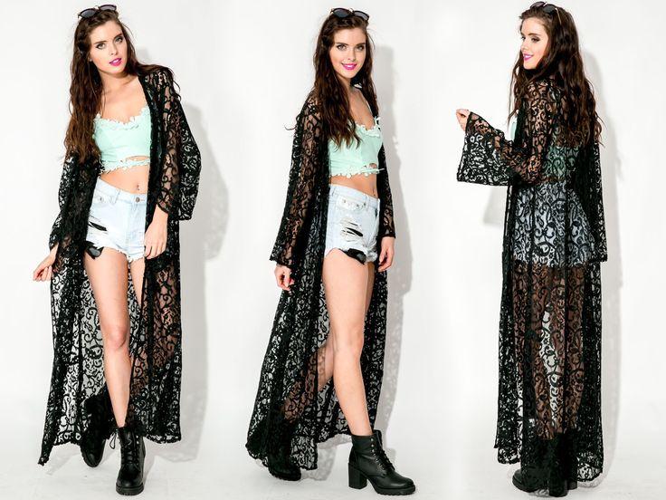 Love Proof Kimono - Black