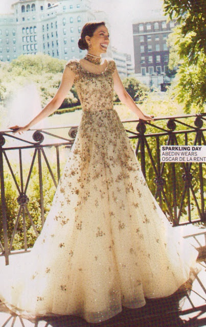 Huma Abedin's Oscar De La Renta wedding gown.  Dream dress!