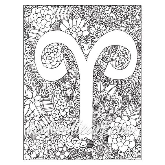 Instant digital download adult coloring page astro