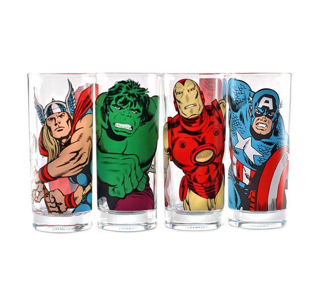 Marvel Gläserset Charaktere
