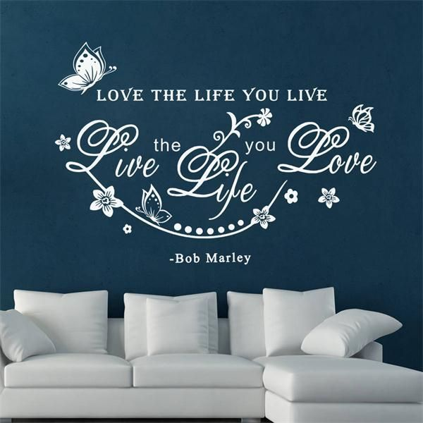 Love the life you live, Live the life you love Bob Marly Quote //Price: $12.45 & FREE Shipping //     #housedecoration