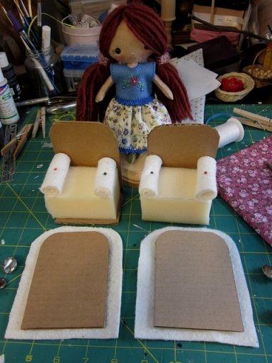 Сделать кресло для куклы - Сайт для мам малышей