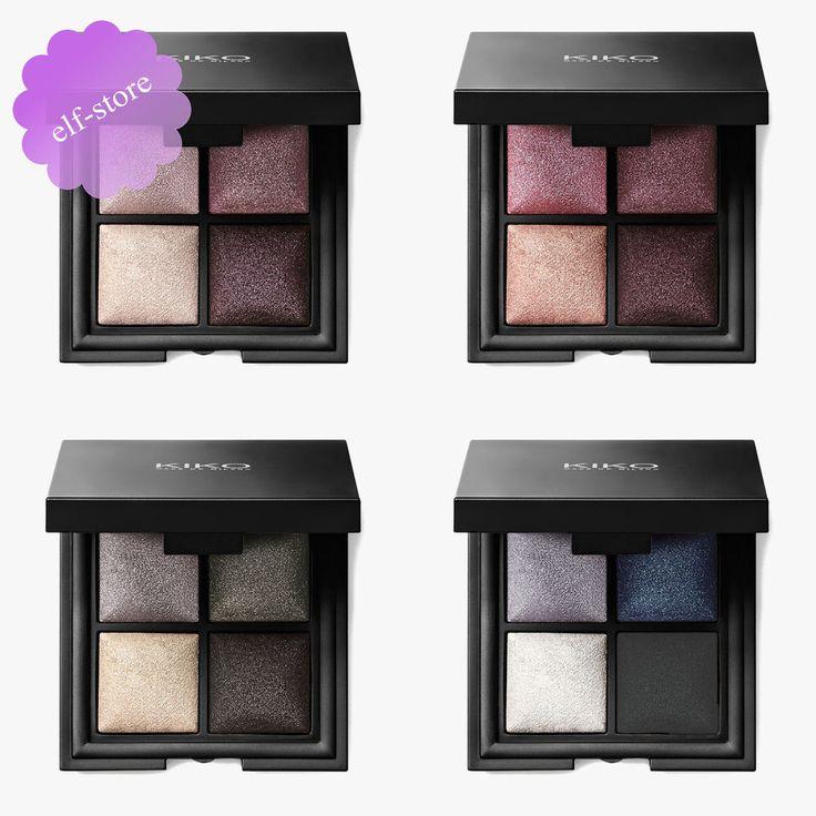 Kiko Color Fever Eyeshadow Palette Quad of baked eyeshadows Pearly Metallic