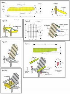 DIY Adirondack Chair Plans http://www.realestatetrio.com
