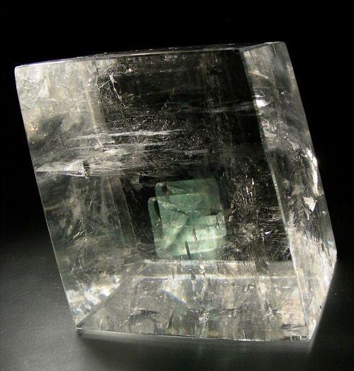Optical calcite with phantoms