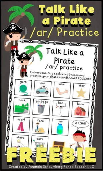 34ee2d2b6fcf Talk Like a Pirate  ar  FREEBIE  Speech Therapy Articulation