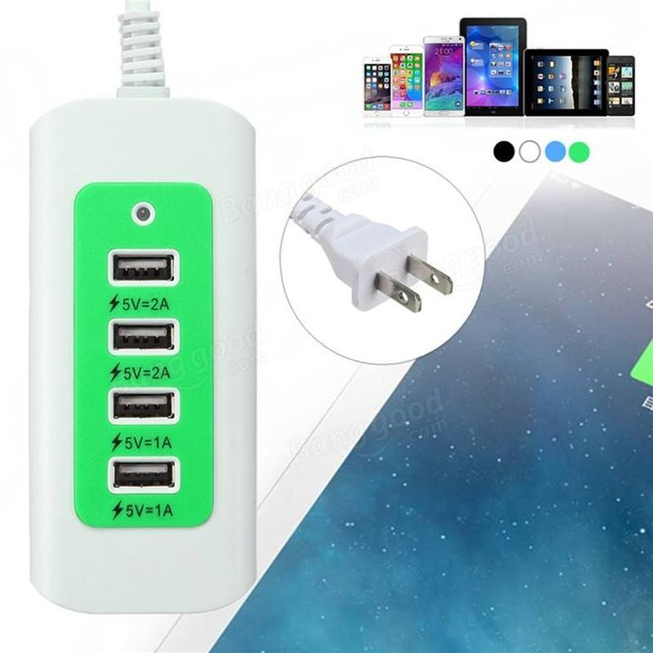 5V 4 Ports USB LED Wall Charger Power Adapter US Plug For iPhone7 Samsung Tablet