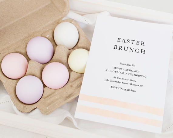 Easter Invitation Template Easter Egg Hunt by SmittenPaperProps