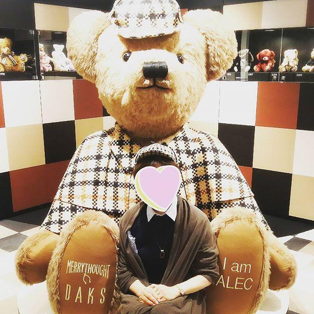 大きなテディベア! 他にも可愛いテディベアがいっぱい。  #DAKSテディベアフォトコンテスト #テディベア #阪急デパート