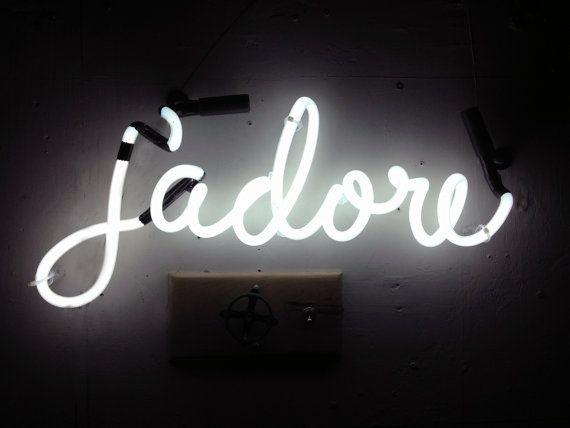 jadore Neon Sign Ready-made by MarcusConradPoston on Etsy