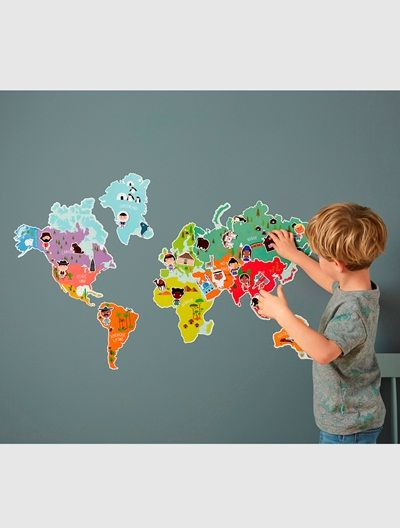 Les 25 meilleures id es de la cat gorie stickers carte du monde sur pinterest stickers for Planisphere enfant