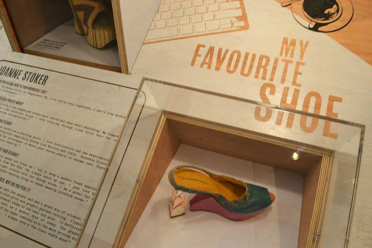 Designer Joanne Stoker shoe on display at the Westfield My Favourite Shoe Exhibition.