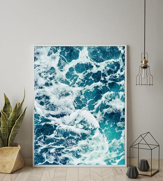 Ocean Water Print Ocean Print Ocean Photography Sea Foam