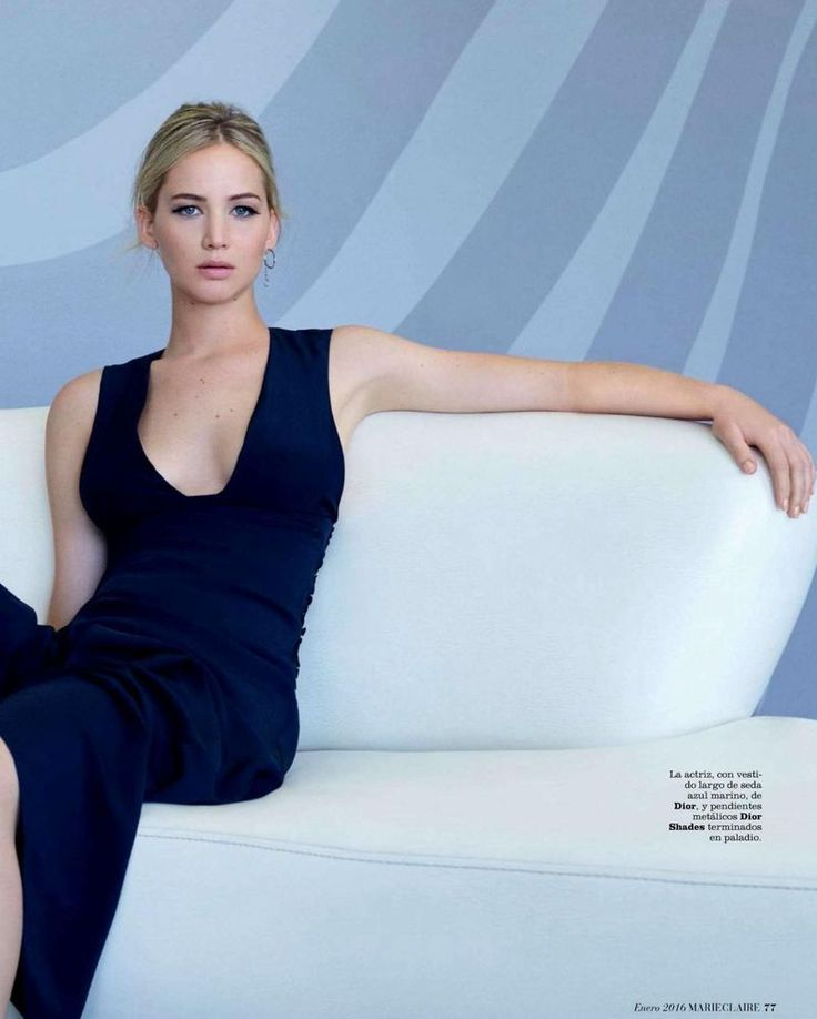 "Evening dress, ""Divine Treasure"" Jennifer Lawrence for Marie Claire Spain January 2016"