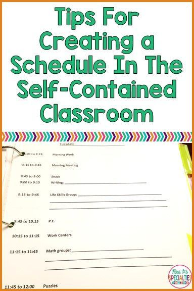 41 best Scheduling for the Special Education Classroom images on ...
