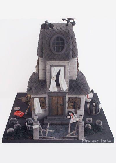 Haunted house - Cake by miraquetarta
