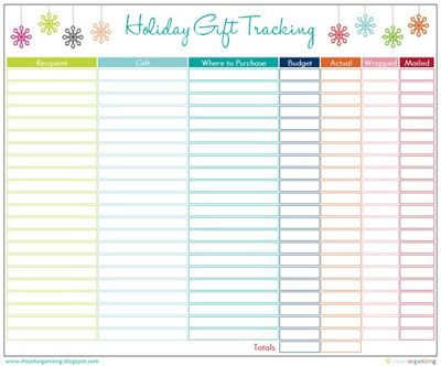 Holiday Tracking! I need this!
