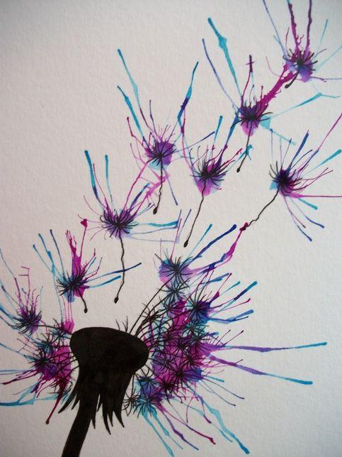 dandelion watercolor   myheartart   original watercolor dandelion 3   Online Store Powered by ...