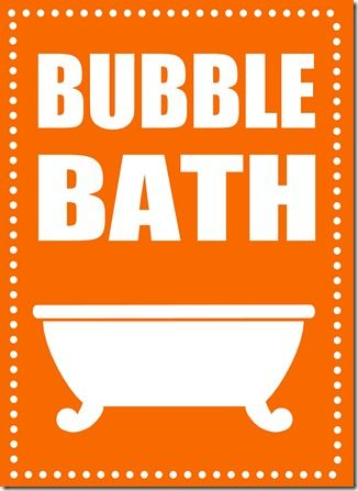 orange bath - http://darlingdoodles.blogspot.co.uk/2011/08/whatever-you-call-it.html#