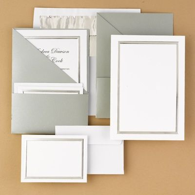 Marvelous Posh Pockets DIY Wedding Invitation Kits (silver) 25 For