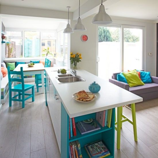 White kitchen with acid colour accents   PHOTO GALLERY   Ideal Home   housetohome.co.uk