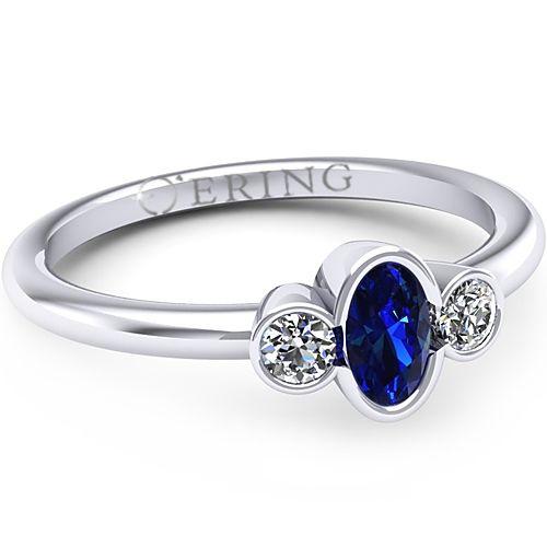 Inel logodna L89ASF cu safir si diamante