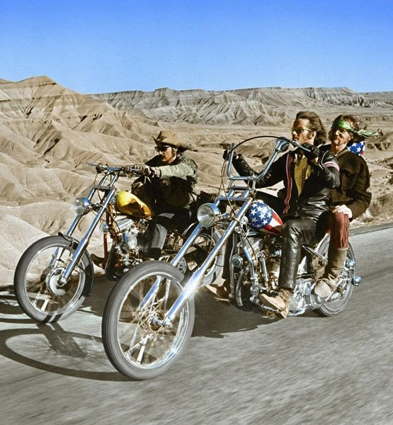 Easy Rider opened in July 1969 and launched Peter Fonda and Jack Nicholson into the Hollywood limelight. The film about motorcycle bikers and their wild escapade from L.A. to Mardi Gras in New Orleans