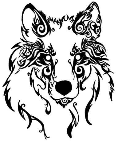 Tribal Wolf Tattoo. Beautiful.