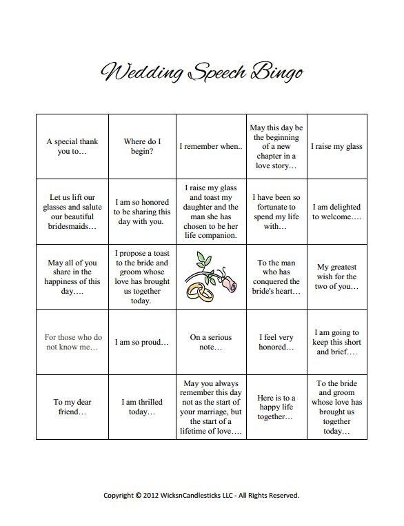 25 Best Wedding Speech Games Ideas On Pinterest