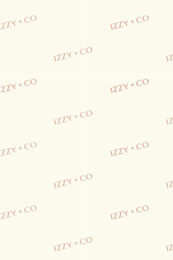 This Branded Logo Pattern Was Crafted For Izzy Co A Local Athens Georgia Photograph Branding Website Design Boutique Graphic Design Small Business Branding