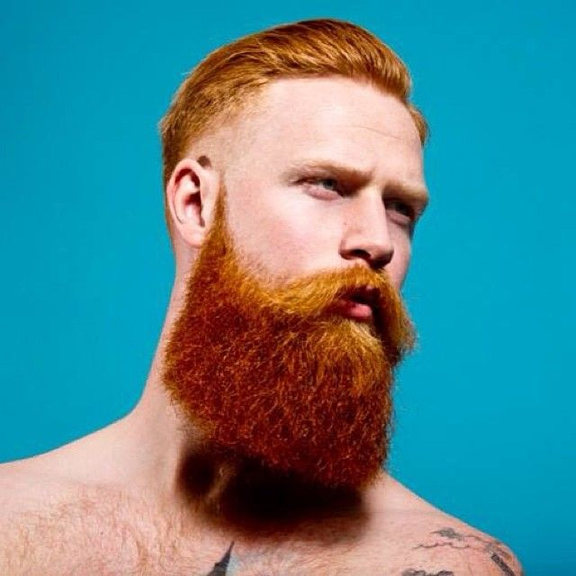bright surreal portrait of Gwilym Pugh - thick full long red beard and mustache beards bearded man men art photography photo shirtless bearding redhead ginger #beardsforever