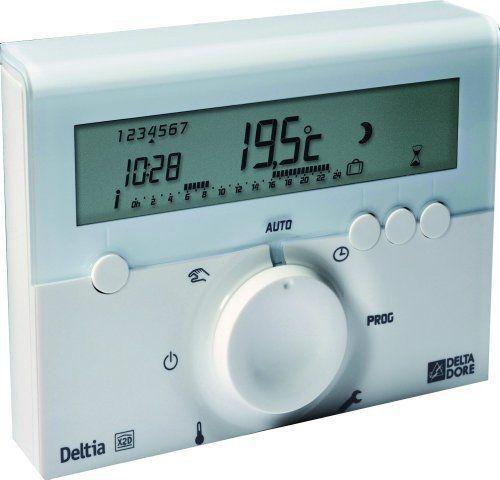 Delta Dore 6050416 Deltia 8.00 Thermostat d'ambiance programmable électronique filaire: Price:92.63Thermostat électronique programmable…