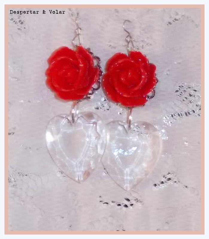 aros de flores y corazones