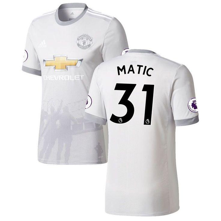 Nemanja Matic Manchester United adidas 2017/18 Third Authentic Patch Jersey - Gray