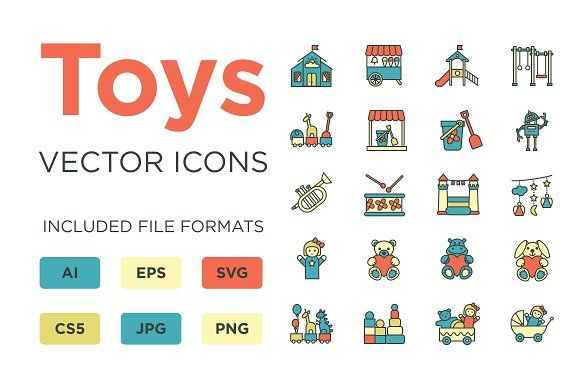 Toys Icons by by masha on @creativemarket